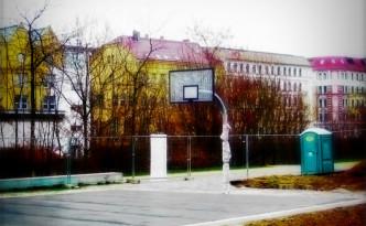 Bild Basketballkorb Plagwitz Industriestraße